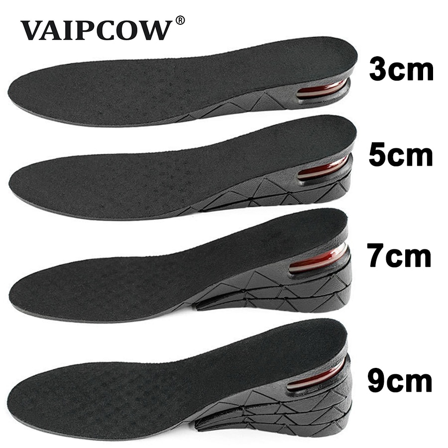 3-9cm Invisible Height Increase Insole Cushion Height Lift Adjustable Cut Shoe Heel Insert Taller Su