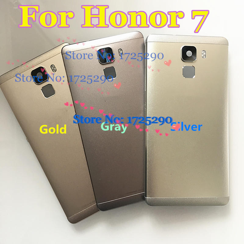 Novo metal traseira da bateria porta caso habitação capa para huawei honor 7 plk ul00 PLK-AL10 PLK-L01 PLK-TL01H