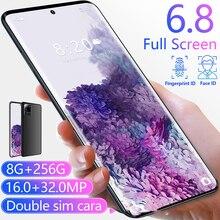Nieuwste 6.8 Inch 11 Galay S20 Wereldwijde Verzending Camera Snapdragon 855 8Gb Ram 256Gb Rom Octa Core 4 smart Phone Groothandel Op Voorraad