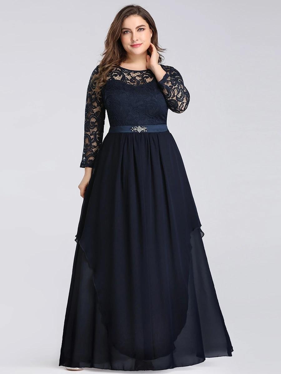 Classic Floal Lace Long Sleeve Wholesale Bridesmaid Dress