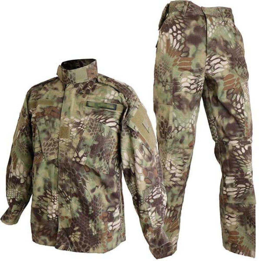 Ejército militar combate táctico BDU uniforme Kryptek Mandrake camuflaje campo de batalla traje Airsoft Paintball caza ropa