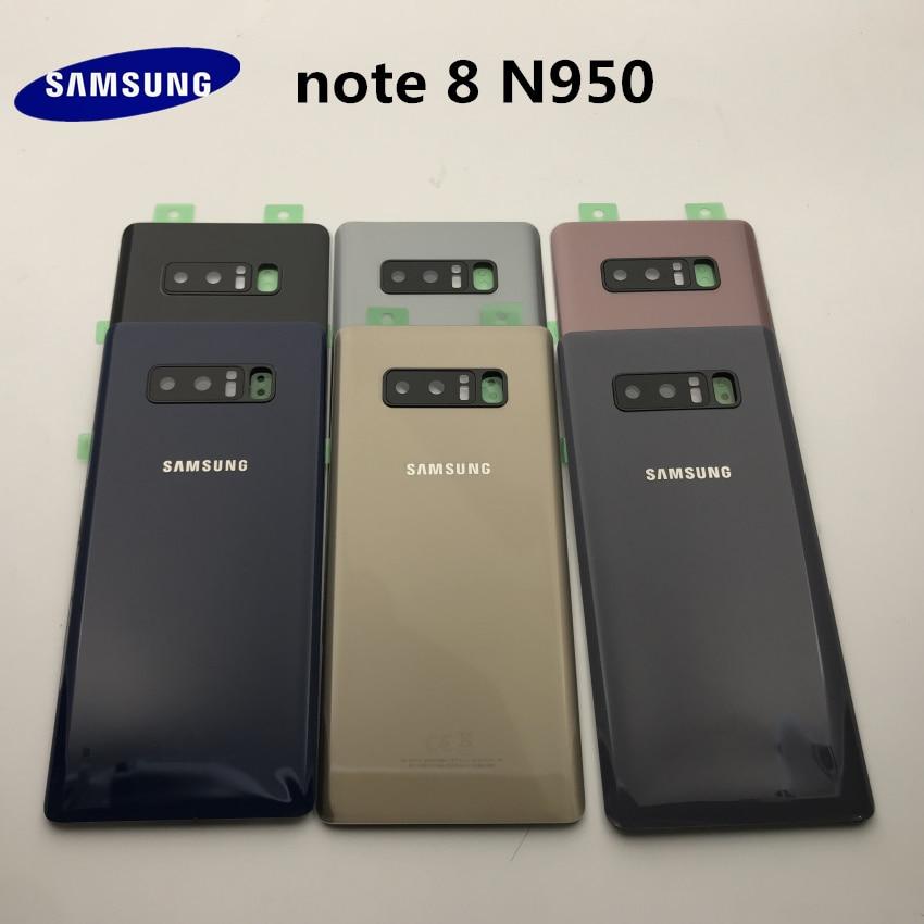 Samsung galaxy note 8 n950 SM-N950F bateria de volta capa porta habitação + orelha câmera lente vidro quadro substituição peças reparo