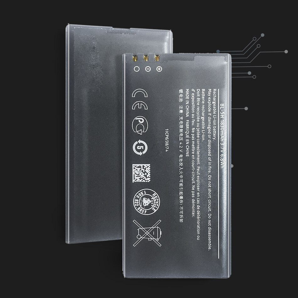 High Quality 1830mAh BL-5H battery for Nokia Lumia 630 38 635 636 Lumia630 RM-977 RM-978 BL5H BL 5H Mobile phone