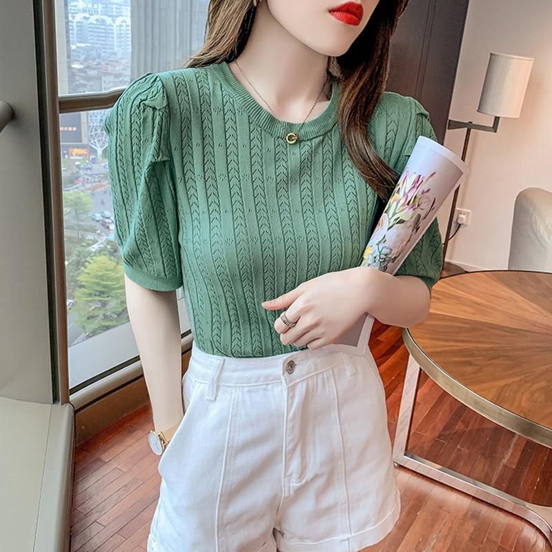 knitted checked tank top Korean Women Sleeveless Knitted Top Summer Elegant Office Ladies Slim Plain 2021 Japan CasualvFemale Fashion Tank Top Knitwear