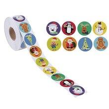 Pegatinas de dibujos animados para niños, etiquetas adhesivas impermeables para regalo de Navidad, 8 diseños, 50 Uds./wad