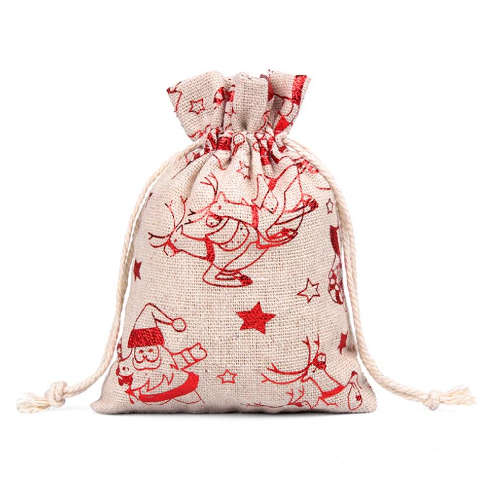 1 Juego de bolsas de regalo de Navidad 24 cuenta regresiva de días Adviento pegatina de calendario cuerda de cáñamo y Clips DIY vacaciones decoraciones de Navidad S55
