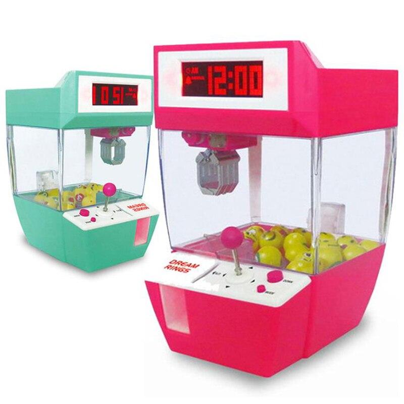 ساعة منبه تعمل بقطع النقود المعدنية ، آلة لعبة ، رافعة ، حلوى ، مخلب ، لعبة أركيد ، مجموعة بيع صغيرة أوتوماتيكية ، هدية للأطفال