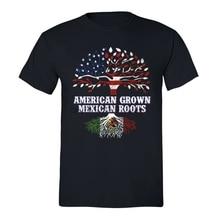 Amerikanischen Gewachsen Mexikanischen Wurzeln T-shirt USA Spanisch Hispanic Humor Chicano T-shirt