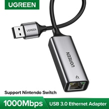 UGREEN USB 3.0 Ethernet Adapter USB 2.0 Network Card to RJ45 Lan for Windows 10 PC Xiaomi Mi Box 3 S