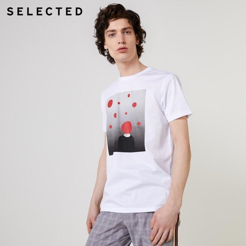 Camiseta estampada de manga corta, de algodón, de 100%, para hombre escotados S   419201648