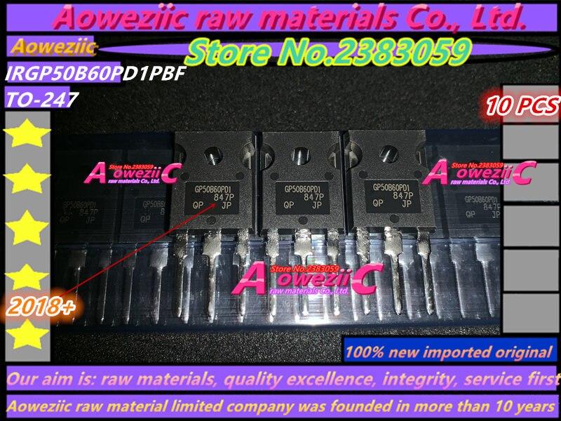 Aoweziic 2018 + 100 ٪ جديد مستورد أصلي IRGP50B60PD1PBF IRGP50B60PD1 GP50B60PD1 TO-247 IGBT ترانزستور بتأثير حقل 75A 600V