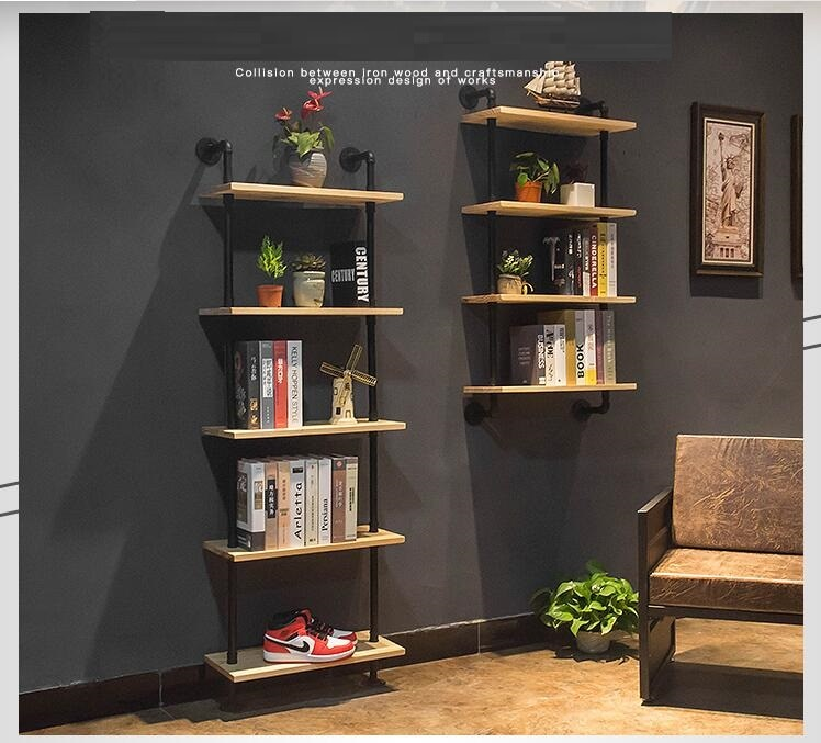 Estante de pared de partición de madera maciza de un personaje, estante de pared, estante de flores, estante colgante de pared de color, armario de pared de salón para dormitorio