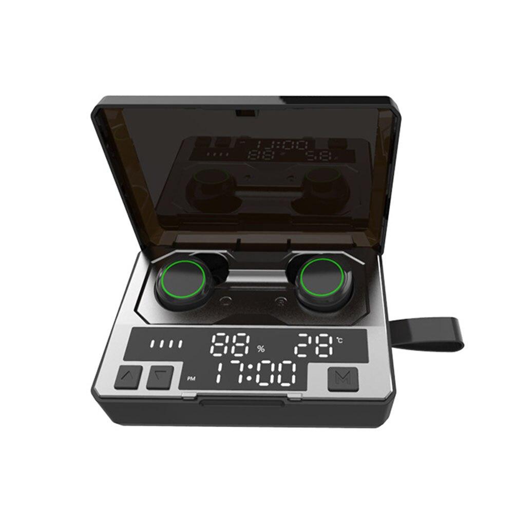 Caja de carga 1536 Hi Fi sincronización automática de auriculares universales con Bluetooth diseño ergonómico LED pantalla Digital Cancelación de ruido