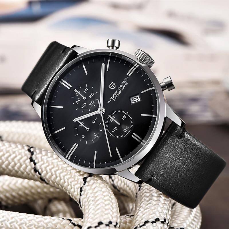 PAGANI DESIGN 2021 Men's Watches Quartz Business watch Auto Date Mens Watches Japan Movt Watch Men Chronograph Relogio Masculino enlarge