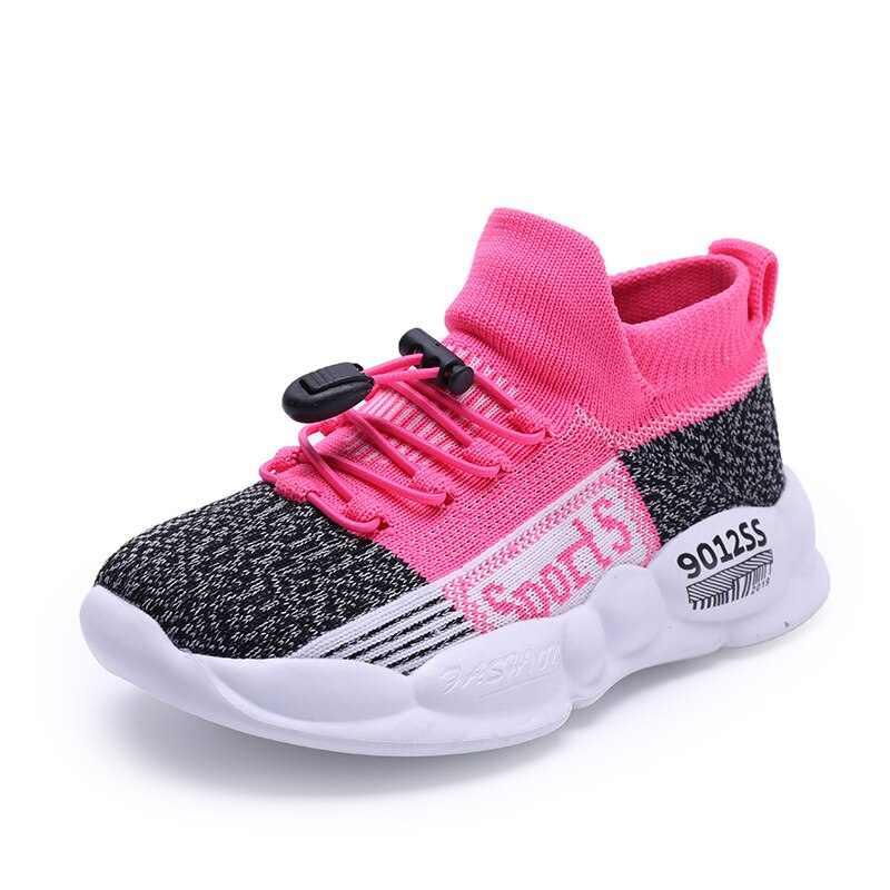 New Girls Flying Knitted Shoes Boys Running Soft Sole Girls' Casual Shoes Children's Baby Shoes Sports Shoes Kid's Socks Shoes