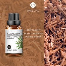 EO 10ML 30ML 100ML Sandalwood Pure Antibacterial Essential Oil Deworming Aromatherapy Diffusers Mass
