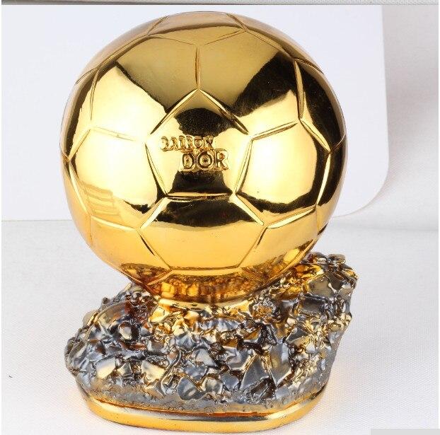Hot البيع 24 سنتيمتر كبيرة الحجم بالون دور الكأس الذهبي الكرة الكأس النهائي مطلق النار اللاعبين مطلي الذهبي الكرة كأس جائزة