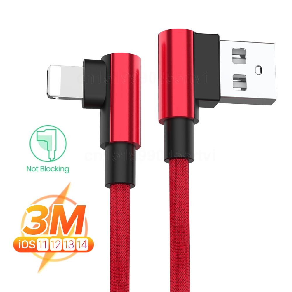 Cable de carga rápida de 90 grados para iPhone, Cable de datos...