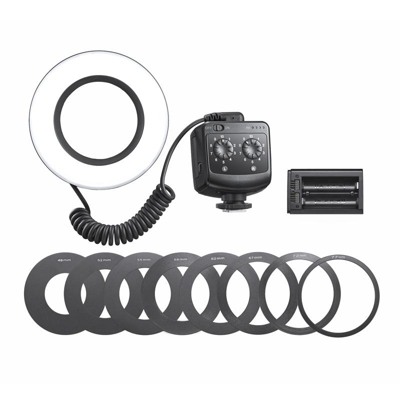 Godox RING72 ماكرو LED مصباح مصمم على شكل حلقة 5600K ماكرو Speedlite حلقة ضوء فلاش للكاميرا DSLR 6D 7D 60D 70D 700D 650D
