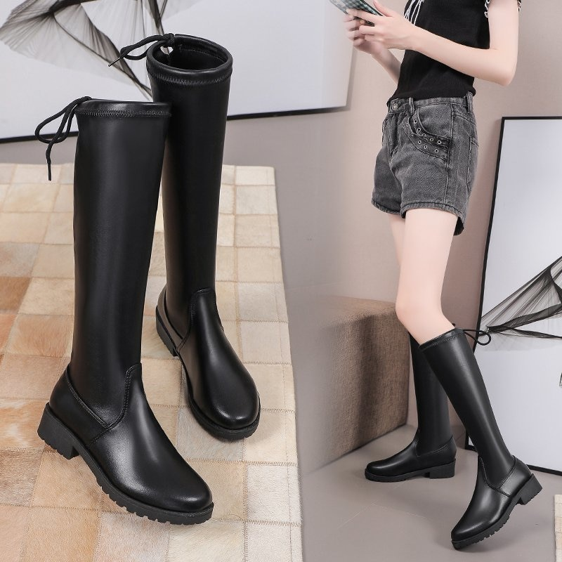 2022 Fashion Winter New Keep Warm Over The Knee Women's Boots Outdoor Comfortable Back Lace-up Boots