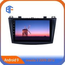 BF WIFI Bluetooth Android 9 voiture lecteur intelligent voiture Navitation autoradio BF vidéo MP3 pour MAZDA 3 2009-2012
