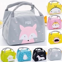 girl kids children portable insulated thermal food picnic lunch bag box women cartoon bags pouch lunch bags