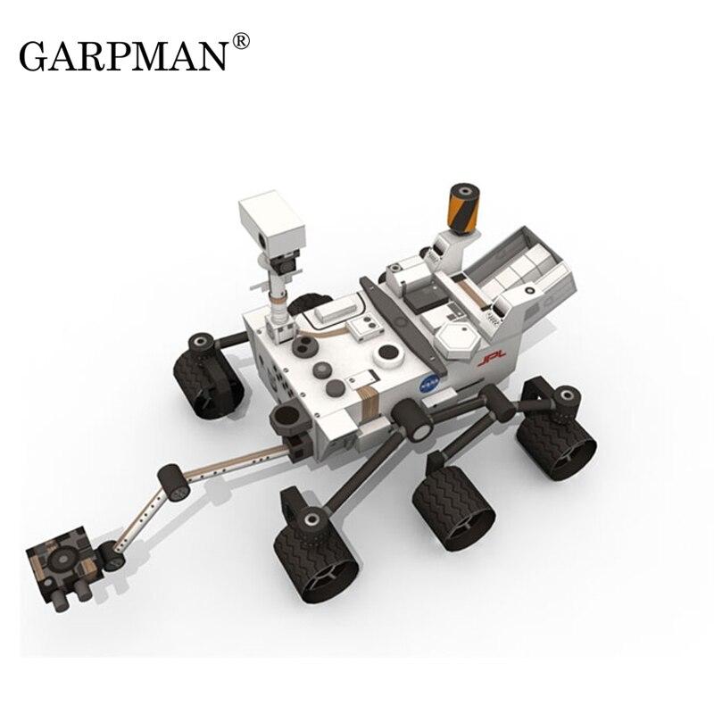 La curiosidad de exploración de Marte Rover DIY papel hecho a mano modelo de juguete rompecabezas tendencia amor fantasía 3D moldeado Juguetes