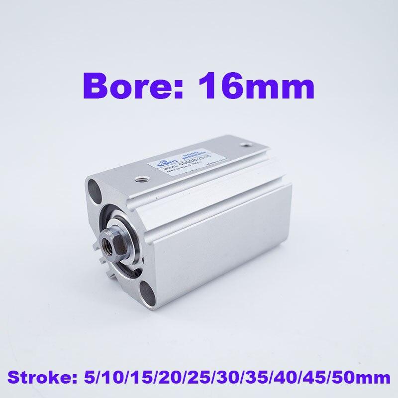 Smc tipo cilindro pneumático furo CDQ2B 16 milímetros avc 5/10/15/20/25/30/35/40/45/50mm cilindro compacto simples de Duplo Efeito rod