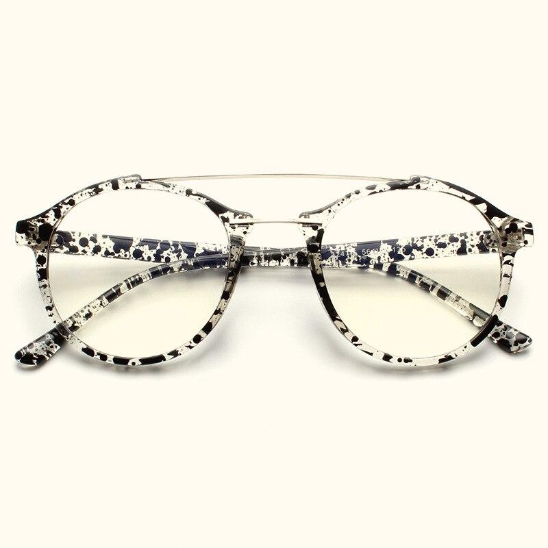 Montura de gafas redondas para mujer y hombre, gafas Retro para miopía, monturas ópticas, cristales transparentes de Metal, gafas negras doradas, Oculos N247
