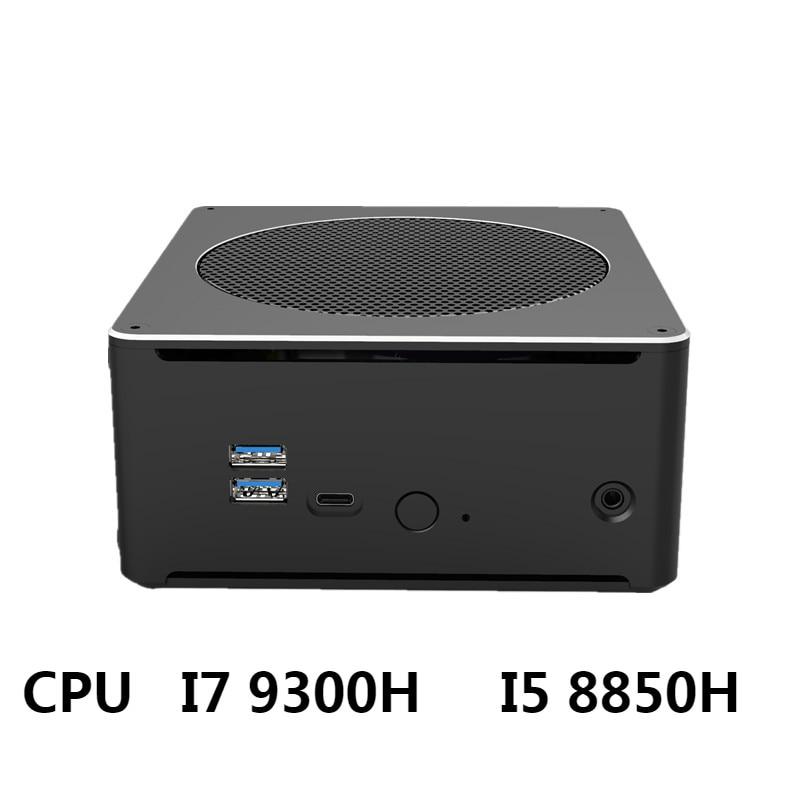 Мини игровой ПК Win10, Настольные Офисные компьютеры 10-го поколения Nuc Intel I9 10880H I7-10750H 2 * DDR4 M.2 NVME WiFi4K DP HDMI USB встраиваемый