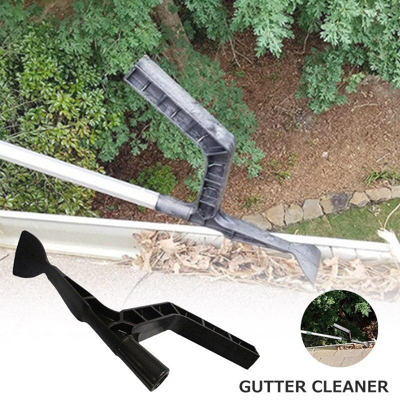 La herramienta de canalón Scoop Behind Skylights Limpieza de techo para casa jardín agujero QJS tienda