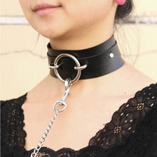 Sexy punk collier ras du cou en cuir ras du cou Bondage cosplay Goth bijoux femmes gothique collier Harajuku accessoires