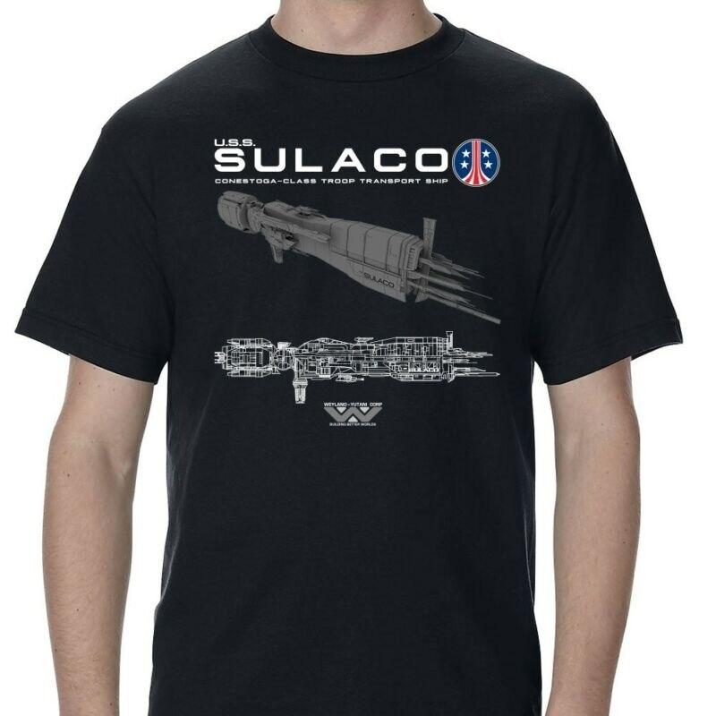 Camiseta para adultos con diseño esquemático USS Sulaco