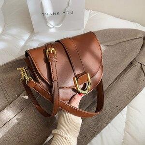 с доставкой Vintage Saddle Bag Women Solid Color Shoulder Bag Ladies Casual Crossbody Bags Female Fashion Luxury Phone Purses