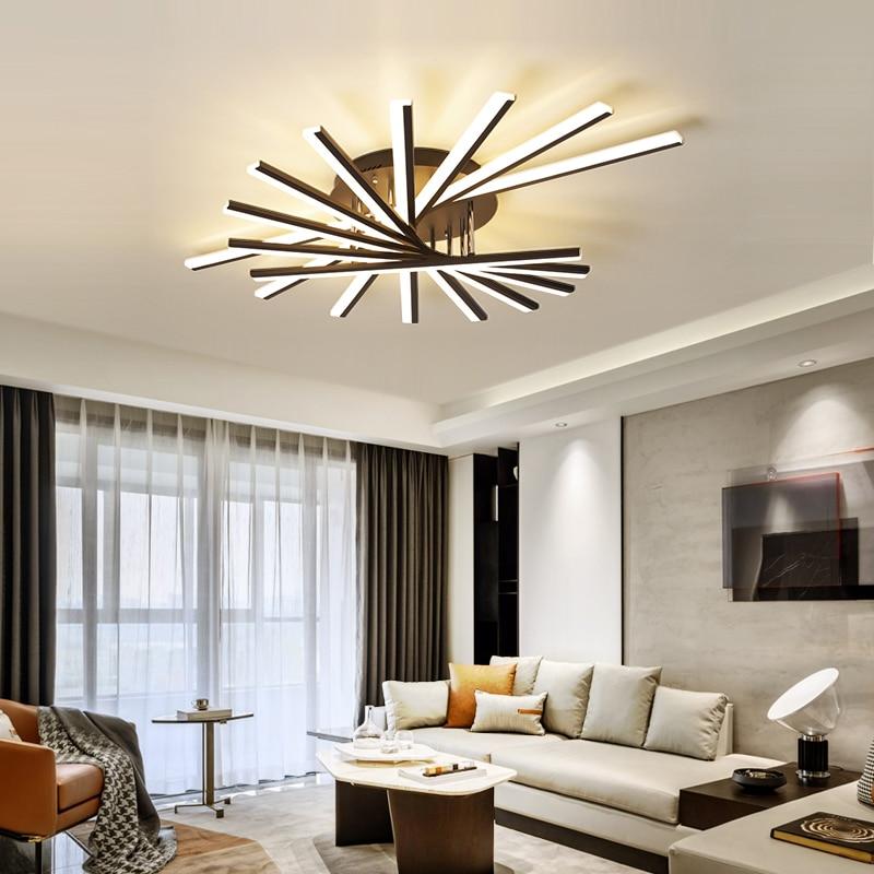 Современные светодиодный ные люстры с дистанционным управлением, комнатное освещение для гостиной, спальни, кухни, потолочный светильник в...