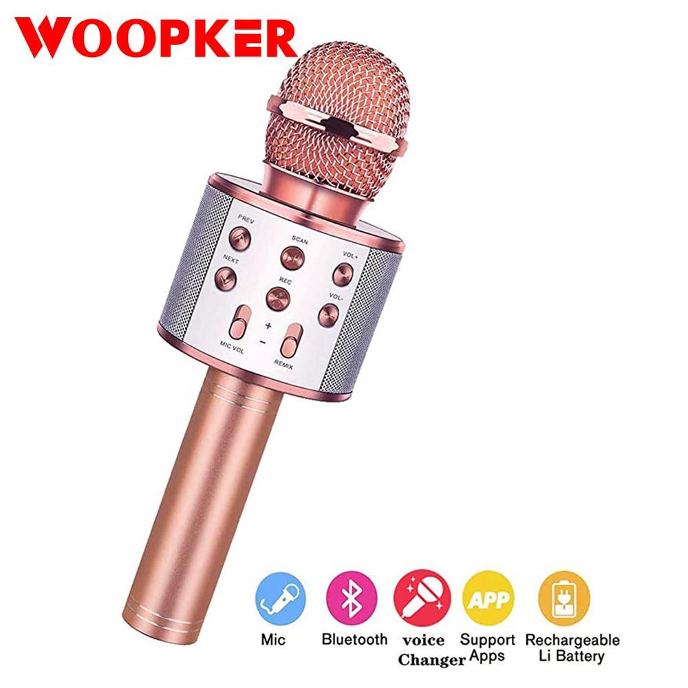 Micrófono inalámbrico Bluetooth, PARA Karaoke micrófono de mano, micrófono USB Mini Home KTV para reproducir música, altavoz para canto, reproductor