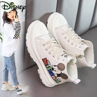 disneys new british martin boots childrens mickey mouse baotou anti kick middle cut boys and girls student shoes leather boots