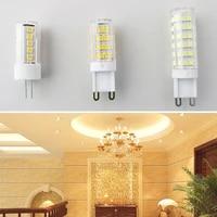 10pcs g4 g9 led lamp no flicker 220v 2835smd 3w5w7w led light bulb super bright chandelier led light replace 70w halogen lamp
