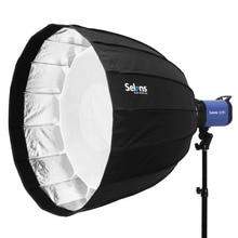 120cm 16-żebra głębokie paraboliczne parasol heksadecagon softbox składany Quick Release do lampy błyskowej Speedlite Photo studio