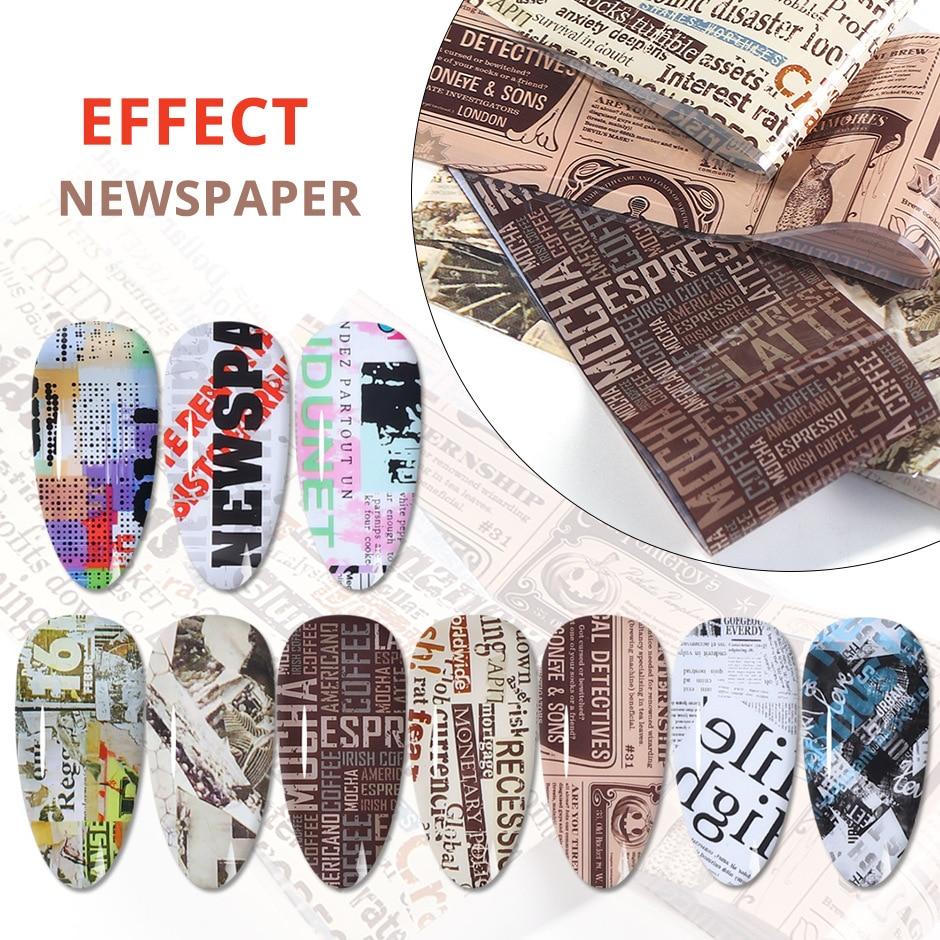 10 Uds arte etiquetas engomadas del clavo de la revista de prensa...