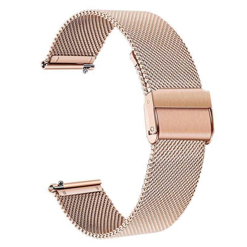 Correa de reloj Milanese de acero inoxidable para Garmin Vivomove HR/3/3S/Vivoactive 4/4S/3/Venu/Luxe/estilo de liberación rápida