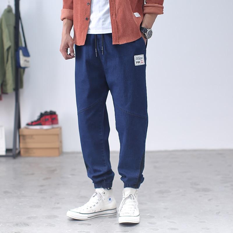 Повседневные синие джинсы для мужчин, мужские джинсы, модель 2020 года, брюки-карго, повседневные мужские брюки-джоггеры в стиле панк