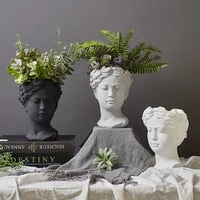 vase greek flower pots goddess head retro venus vase home decoration accessories ornament home decor tabletop decorative