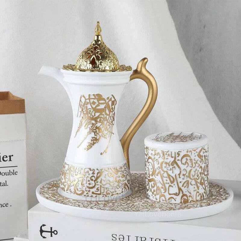 3In1 арабский набор горелки для благовоний ближний восток мусульманский Курильницы Керамика конусная кадильница для дома Украшения, рождественский подарок