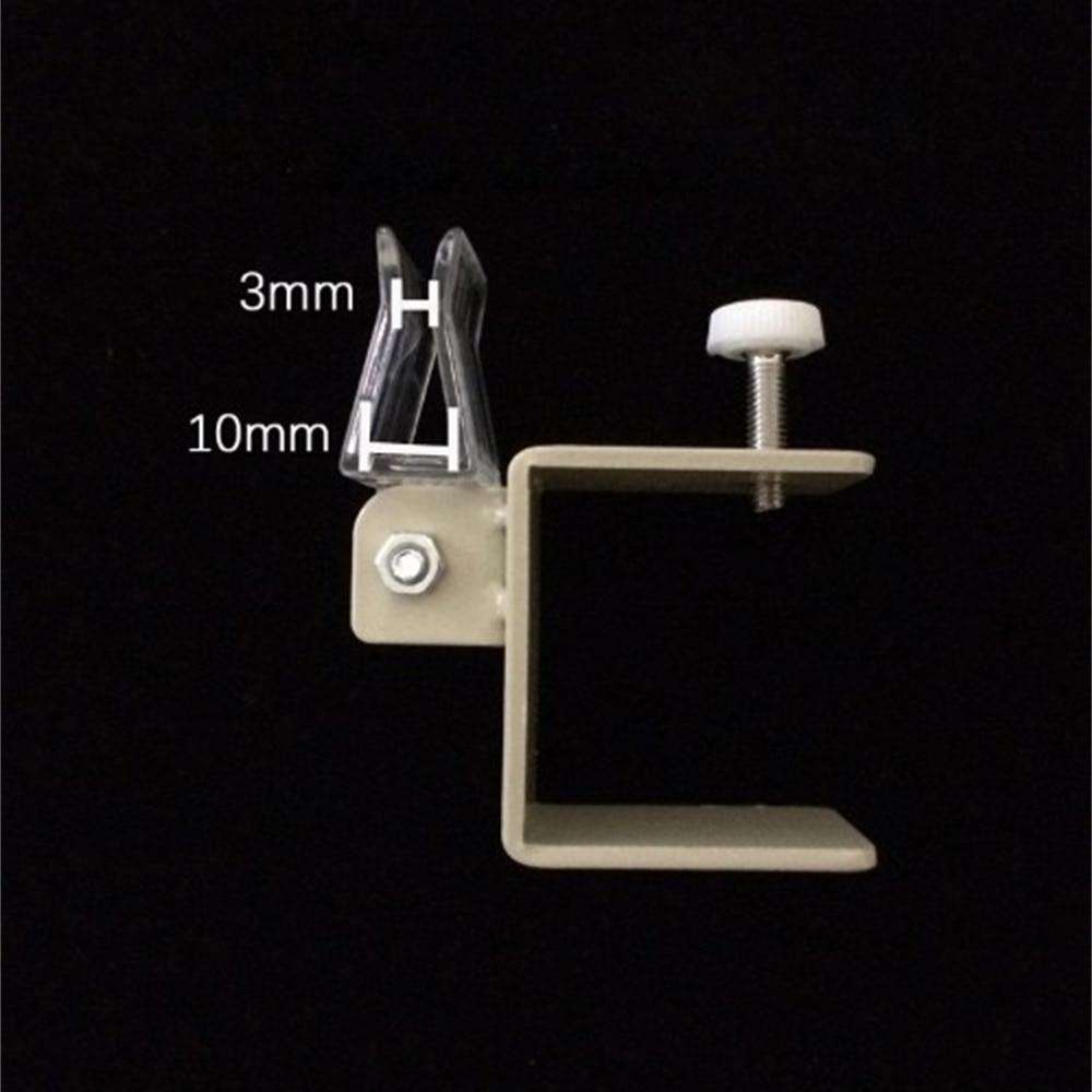 Металлический держатель баннера с U-образной застежкой, регулируемая толщина держателя для баннера, информационный зажим для полки