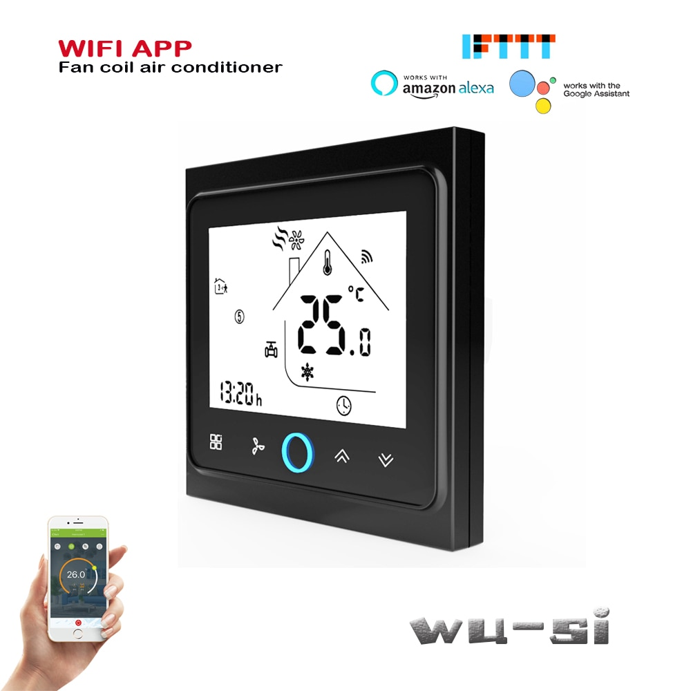 TUYA 24VAC 95-240VAC 4P/2P WIFI termostato calor genial temperatura termostato funciona con Alexa de google
