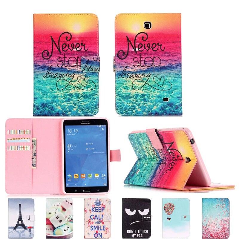 "Lujo 7 ""flor tablet pu cuero soporte Tablet funda para Samsung Galaxy Tab 4 Tab4 7,0 T230 T231 T235 SM-T230 SM-T231 # E"