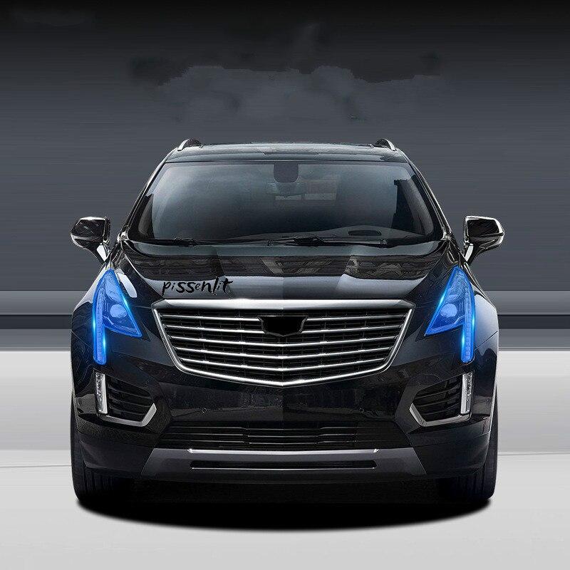 Para Cadillac ATSL CT6 XT5 XTS ATS-L 2016-18 coche accesorios TPU transparente película del faro película luz pegatinas de coche