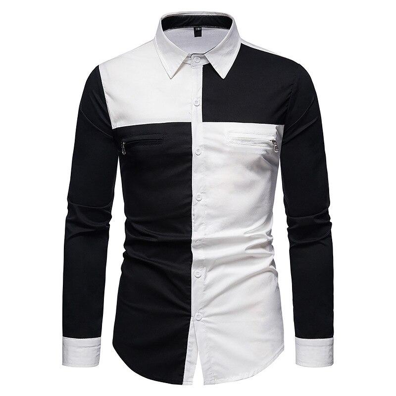 Мужские рубашки, новые европейские мужские рубашки, Прошитые рубашки с длинными рукавами, мужские рубашки, стильные рубашки,