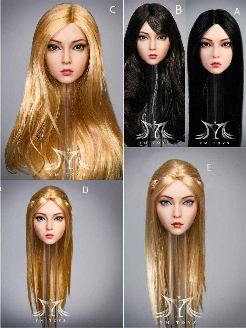 YMTOYS YMT029 1/6 cabeza de Rosa esculpir nuevo Suntan cabeza chica duende cabeza tallada modelo